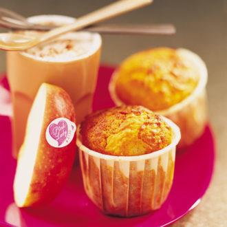 Muffins aux pommes Pink Lady® et chocolat à la cannelle